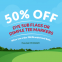 50% OFF Flags & Dimple Tee Markers
